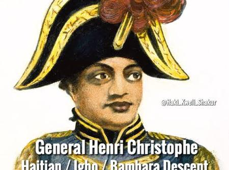 Henri Christophe, former slave of Igbo decent who became the first king of independent Haiti nation