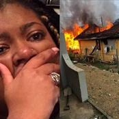 Our House Burnt Down Today, I Don't Know The Cause Of The Fire & I Don't Know Where To Go -Lady