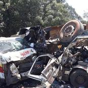 Nasty Scenes After Another Grisly Road Accident Involving Four Vehicles This Evening in Nairobi