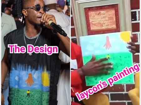 """""""Laycon is Creative""""– See The Design He Made On His Shirt That Got Reactions From Fans"""