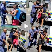 Watch: Video of police manhandling a couple emerges, they used pepper spray on the lady.