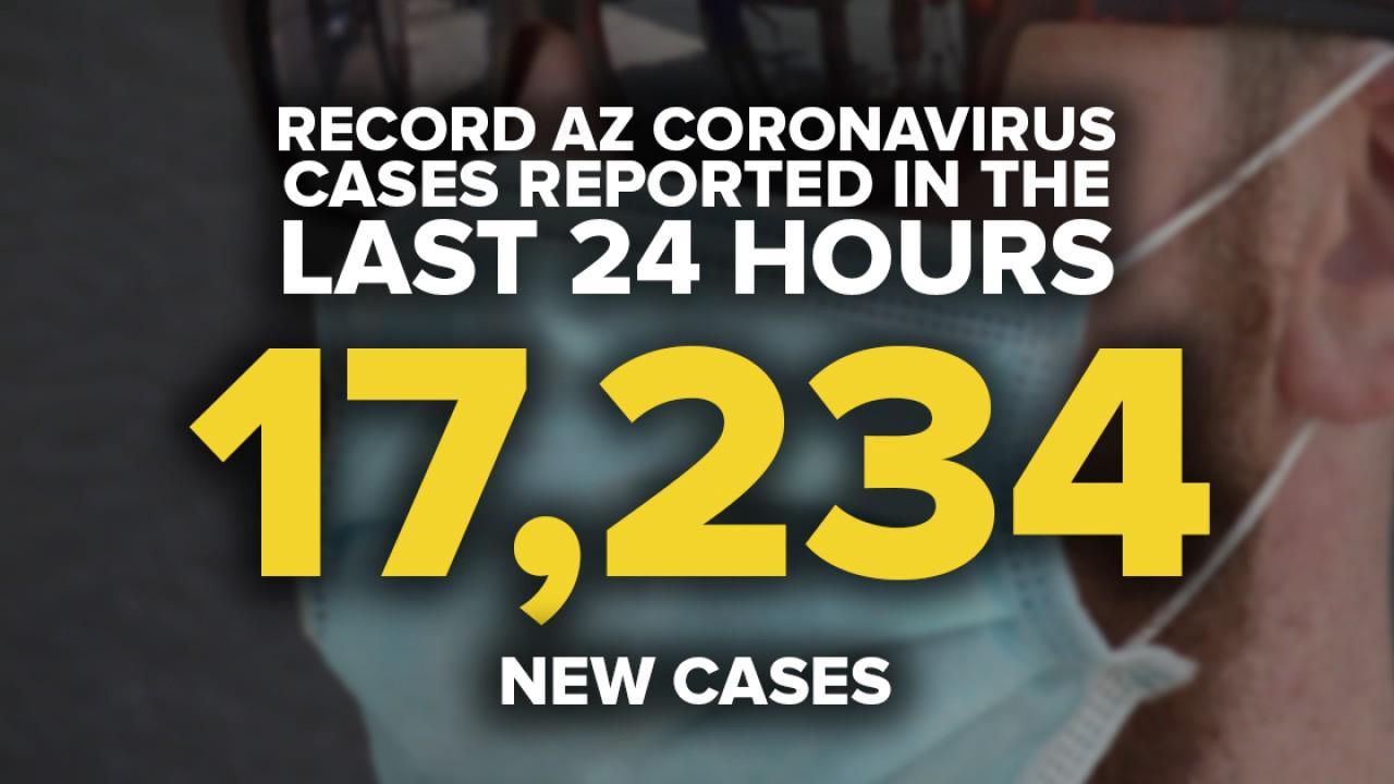 Health officials add 17,234 new coronavirus cases to dashboard Sunday