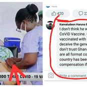 "Akuffo Addo was jabbed ""Water Vaccine"" not Covid-19 vaccine- A Facebook commentator reveals"