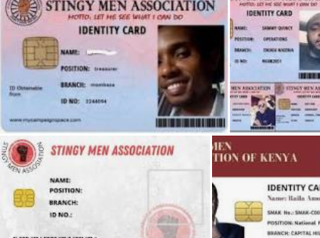See Photos Of Stingy Men Association Cards