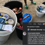 Checkout What People Noticed Inside A Bucket Of A Kunu Seller That Got Them Reacting