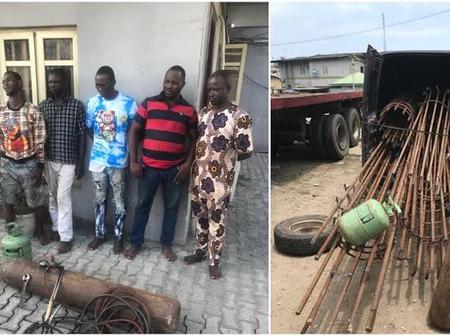Lagos Police Reject N500, 000 Bribe Offered By Suspects Nabbed With Stolen Construction Materials