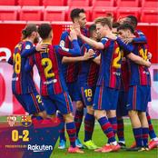 See Reactions From Barcelona Fans After Winning Against Sevilla