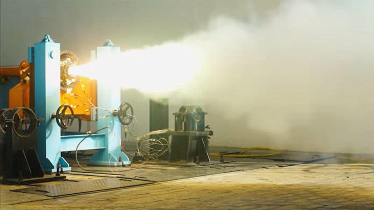 Spacetech startup Skyroot Aerospace successfully test-fired solid-fueled rocket engine