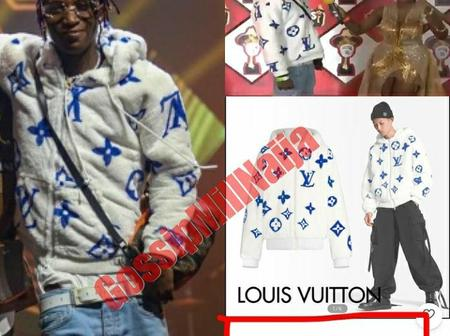 The Price Of Bella Shmurda's Hoodie That He Wore To Headies Has Been Revealed