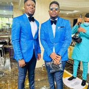 Check Out Nollywood Actor and Comedians That Were On Duty As 'Men In Suit' For Woli Arole's Wedding
