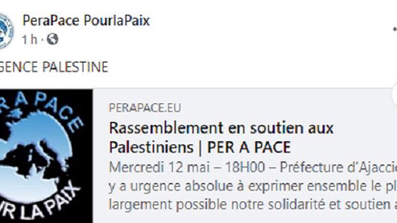 Ajaccio : Rassemblement en soutien aux Palestiniens