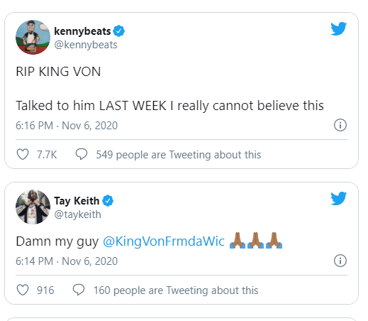 Chicago rapper, King Von dies at 26 after being gunned down in a shooting