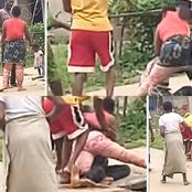See how wife beats her arrogant husband mercilessly after a heated argument (VIDEO)