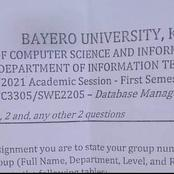 See This Exam Question Given To Students Of Bayero University That Is Causing Reactions