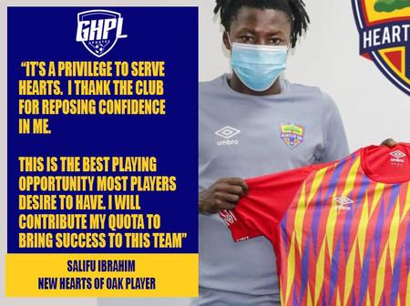 Check what Latif Salifu had to say after completing his move to Accra Hearts of Oak.