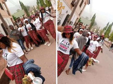Despite Heavy Security, Graduating Students of Kogi State Poly Still Celebrate Their Signing Out
