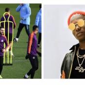 Surprisingly, Manchester City use Wizkid lyrics as caption in Twitter post during training.