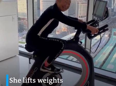 Meet Mika: She is over 90 years old, but still lifts weights and works out