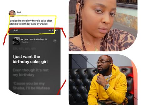 Reactions after a Lady said she decided to steal her friend's cake after listening to Davido's song