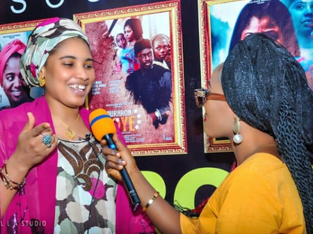 Photos: Samira Ahmed and others came to show support at the launching of a new Kannywood movie