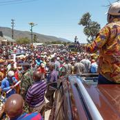 PHOTOS : Raila Brings Mwatate To Standstill As Huge Crowds Welcomes Him