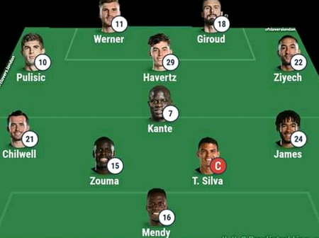 Werner, Havertz & Giroud included in Chelsea Toughest Possible 4-4-2 Line Up to Play Fulham Today