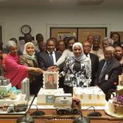 Photos of The Beautiful Birthday Cake Africa's Richest Man, Aliko Dangote Got For His 64th Birthday