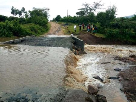 Public Outcry as A Week Old Bomet Culvert is Washed Away by Heavy Rains