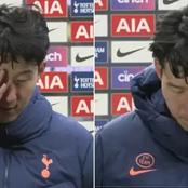 Son close to tears after being beaten by Manchester United