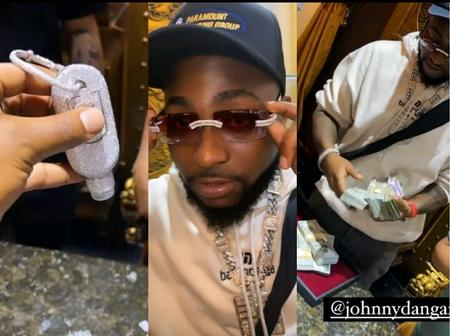 Davido Shows Off Newly Purchased Diamond Items