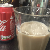 Mix coca cola with milk and wait for this to happen