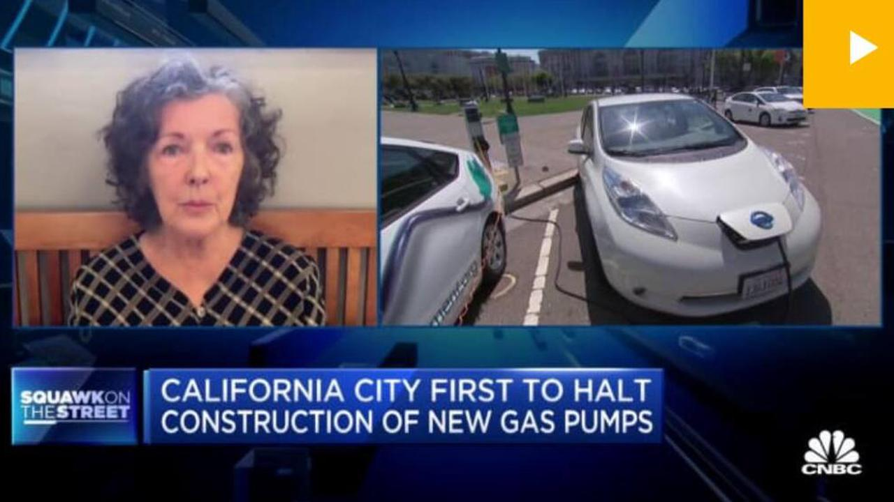 Petaluma mayor appears on CNBC talking about 1st-in-US ban on new gas stations
