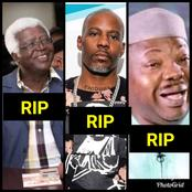 Just 11 Days Into April, See The Total Number Of Prominent Celebrities That Died(Photos)