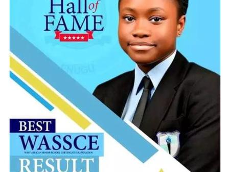 Paying Tribute To The Girl Who Scored 7A1s In West African Examination Council WAEC. See Photos.