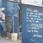 Street vulcanizer Teaches A Young Boy English Language In His Shop