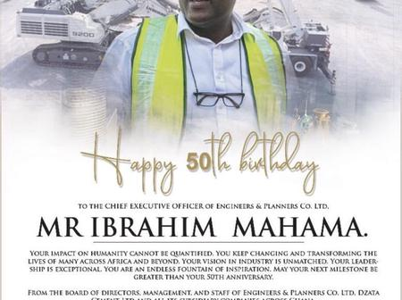 Best wishes coming in as Ibrahim Mahama marks 50th Birthday today