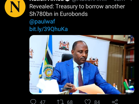 Kenyans React After Treasury Goes For Another Kshs 780 Billion Eurobond Loan