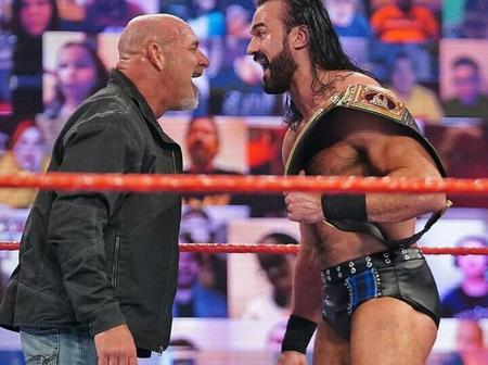 See reactions as Goldberg challenges Drew McIntyre for the WWE championship at Royal Rumble (photos)