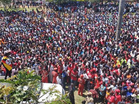Museveni Going Home? Bobi Wine Defy Order As He Attracts Thousands of Supporters in a Historic Rally