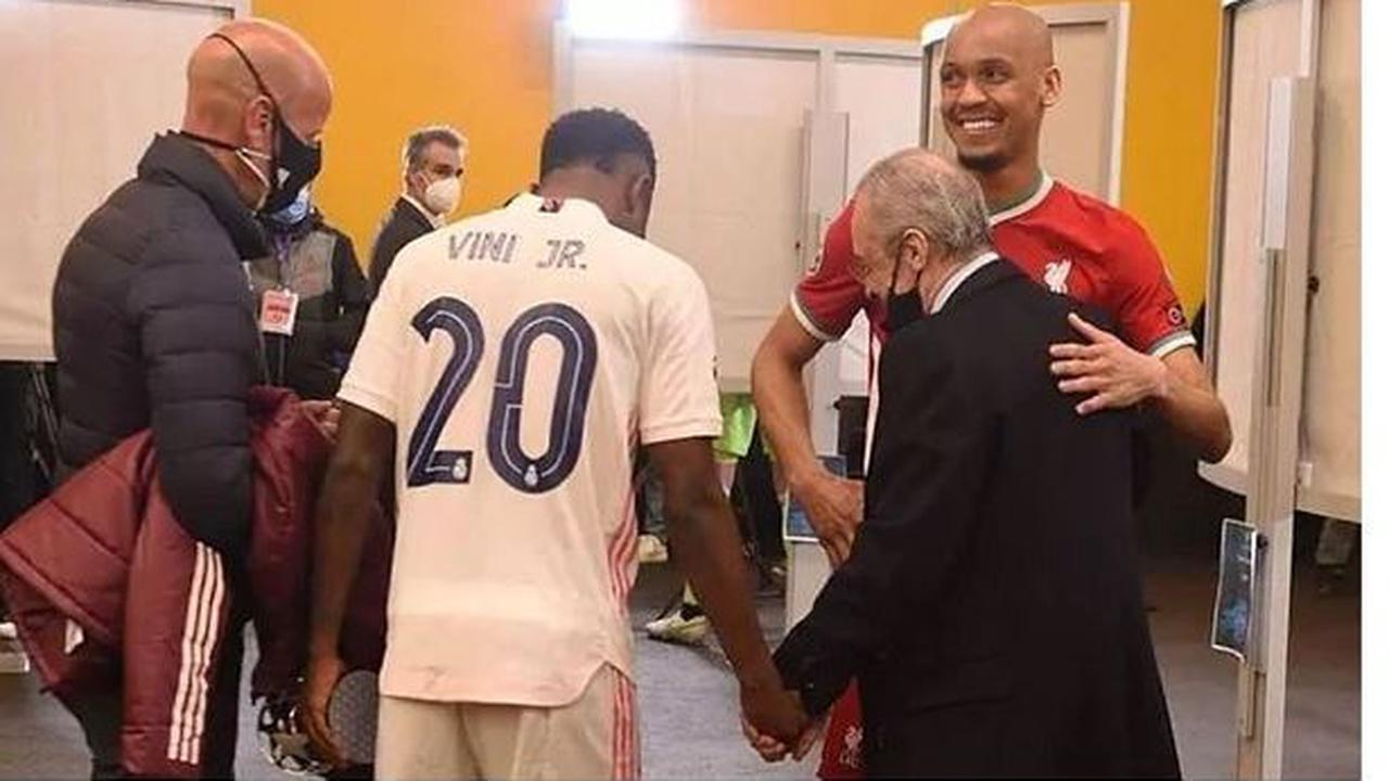 Fabinho's private chat with Real Madrid president Florentino Perez after Liverpool clash
