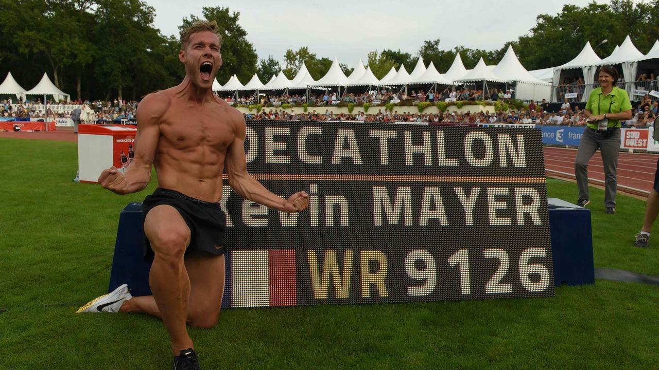 Kevin Mayer célèbre les trois ans de son record du monde