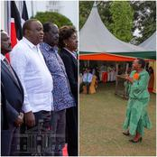 What DP Ruto's Wife Was Doing While Uhuru Was Hosting Raila, Moi, Kalonzo, Wetangula and Musalia