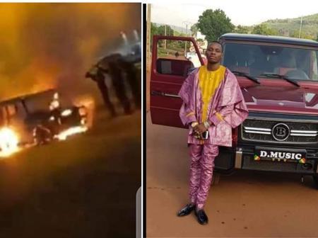 Incident: l'une des voitures de l'artiste Sidiki Diabaté est partie en fumée dans la nuit du mardi