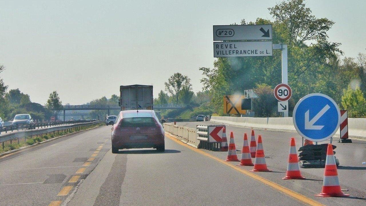 Travaux sur l'autoroute A61 : l'échangeur de Villefranche-de-Lauragais va fermer durant quatre nuits