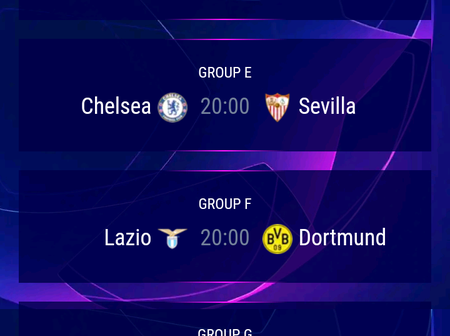 UEFA Champions League Matchday 1 Fixtures For Football Fans