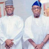 Obasanjo Breaks Silence On Why He Visited Gov Yahaya Bello In Lokoja, Read What He Said