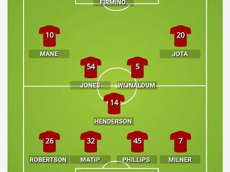 Check Out Liverpool's Predicted XI To Face Atalanta As Thiago And Henderson Returns.