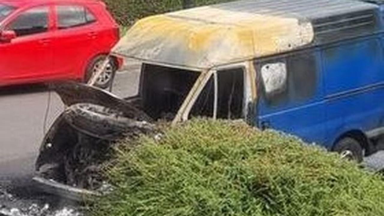 Watch as neighbours rush to save cars as van explodes in residential Bristol street