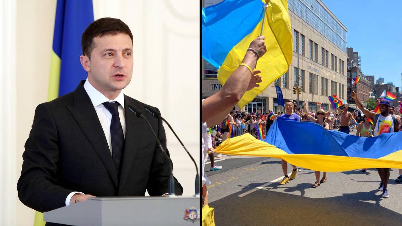 Ukraine's inseparable couple ditch handcuffs and go separate ways