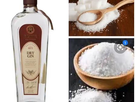 Take One Short Of Gin And Teaspoon Of Sugar And Salt